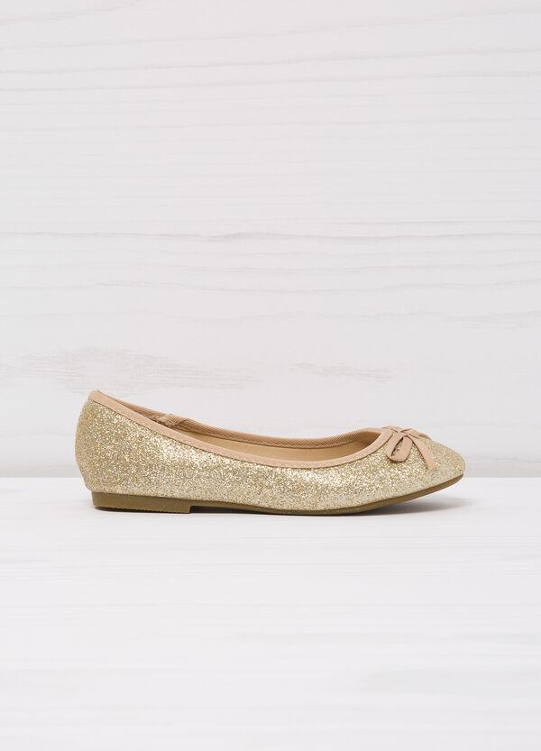 Ballerina flat with round glitter toe | OVS