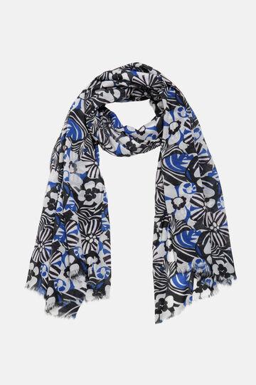 Floral sarong, White/Black, hi-res
