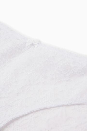 Solid colour stretch lace briefs, White, hi-res