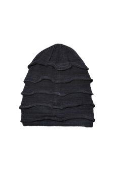 Solid colour beanie cap, Navy Blue, hi-res