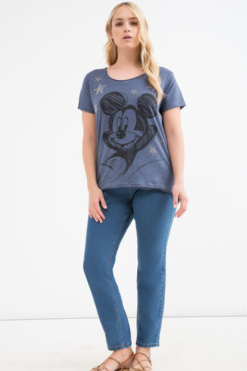 Curvy Mickey Mouse T-shirt, Denim Blue, hi-res