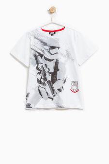 T-shirt cotone stampa Star Wars, Bianco ottico, hi-res