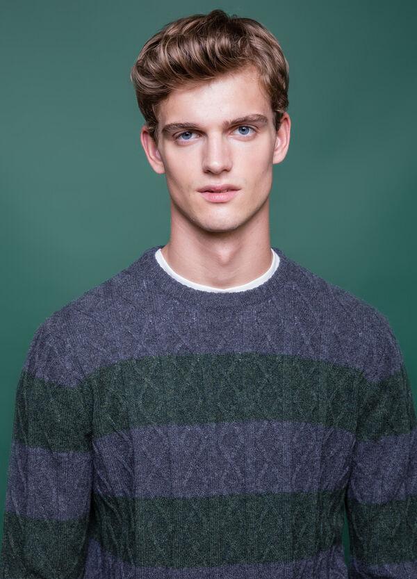 Pullover pura lana fantasia a righe   OVS