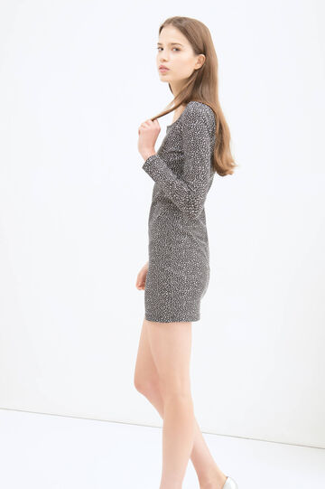 Short dress in stretch cotton