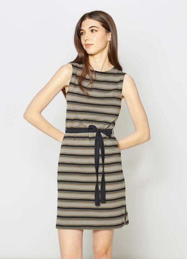 Vestido sin mangas en punto de rayas | OVS