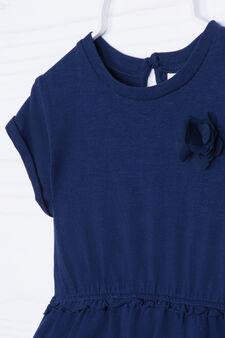 Vestitino stretch tinta unita, Blu, hi-res