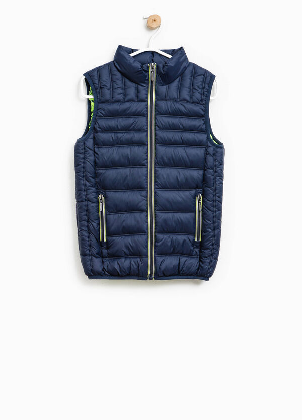 Quilted gilet with double pocket | OVS