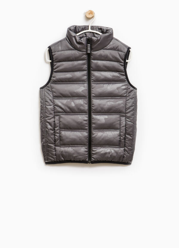 Padded patterned waistcoat with zip | OVS