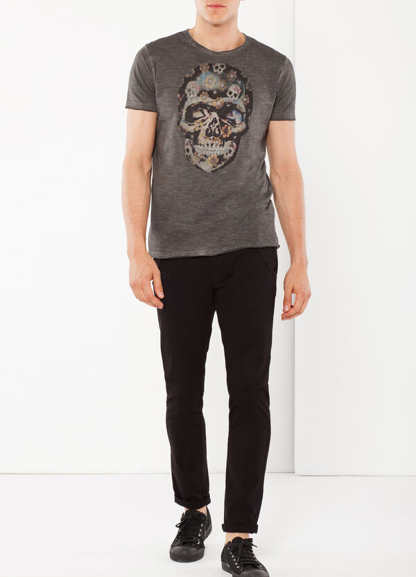 T-shirt with skull print | OVS