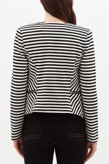 Striped jacket, White/Black, hi-res