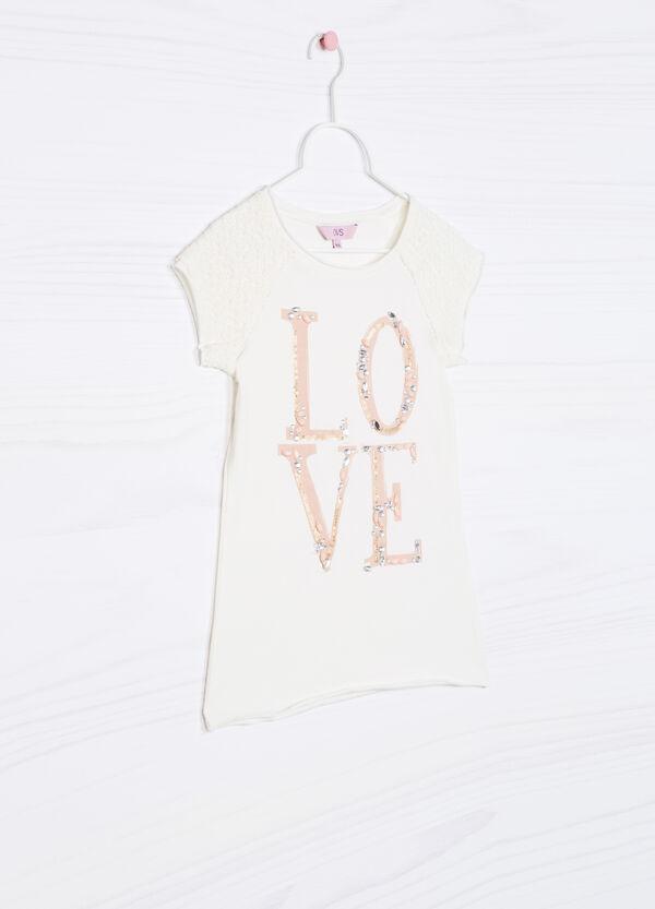 T-shirt con strass cotone stretch | OVS