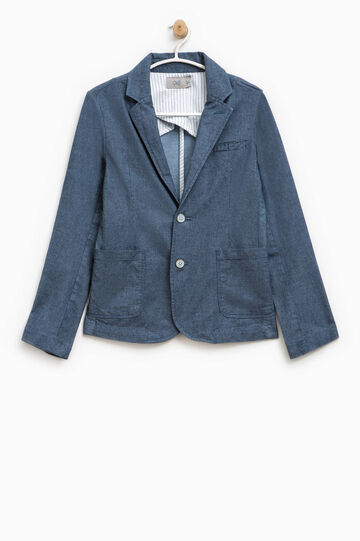 Cotton jacket with two buttons