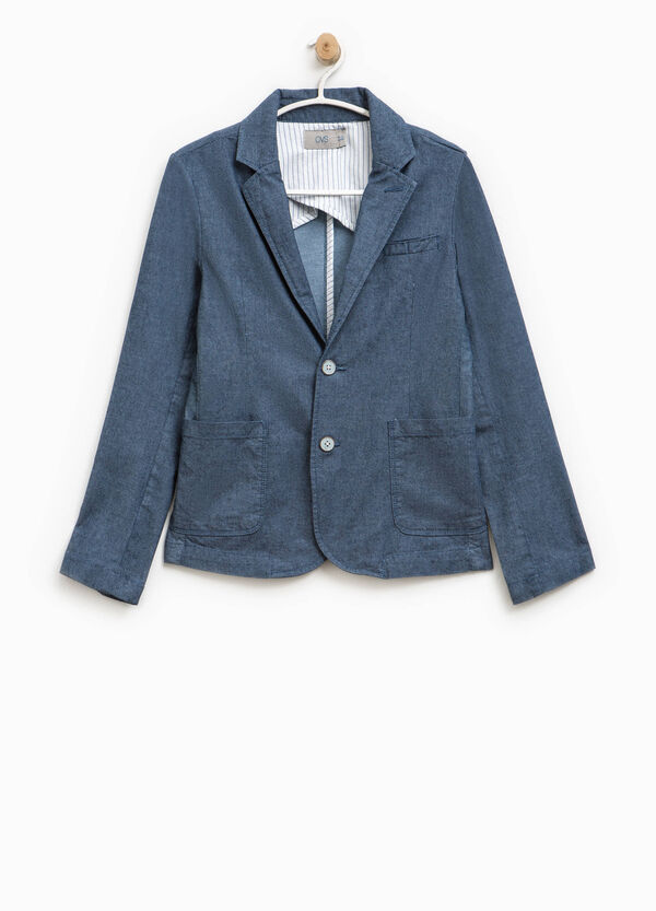 Cotton jacket with two buttons | OVS