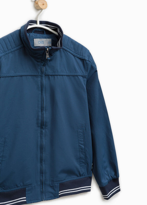 Solid colour cotton blend jacket | OVS