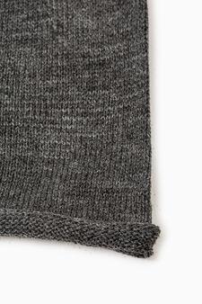 Solid colour beanie cap, Grey Marl, hi-res