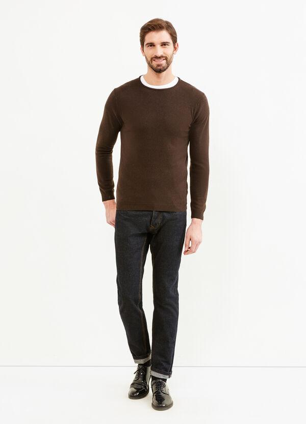 Pullover girocollo seta e cashmere | OVS