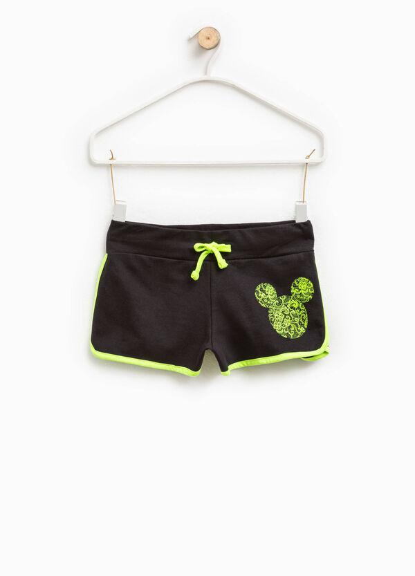 Shorts cotone con stampa Mickey Mouse | OVS