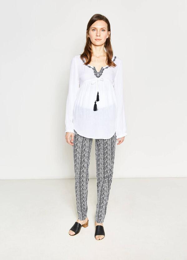 MUM patterned viscose trousers | OVS