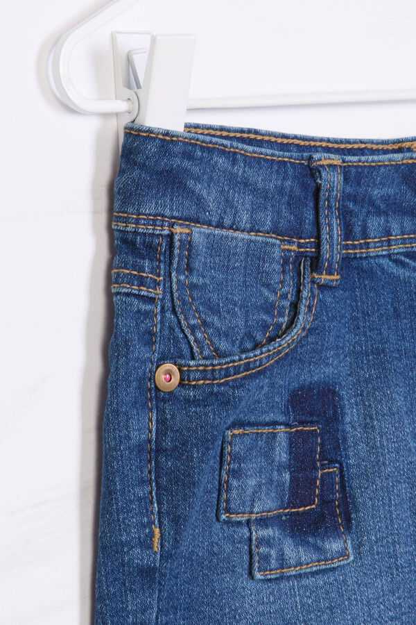 Denim shorts with frayed lower edge | OVS