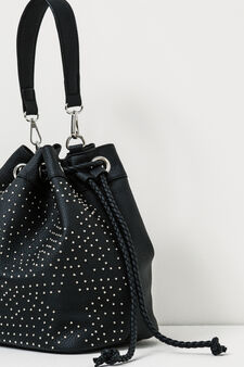 Across body bag with studs, Black, hi-res