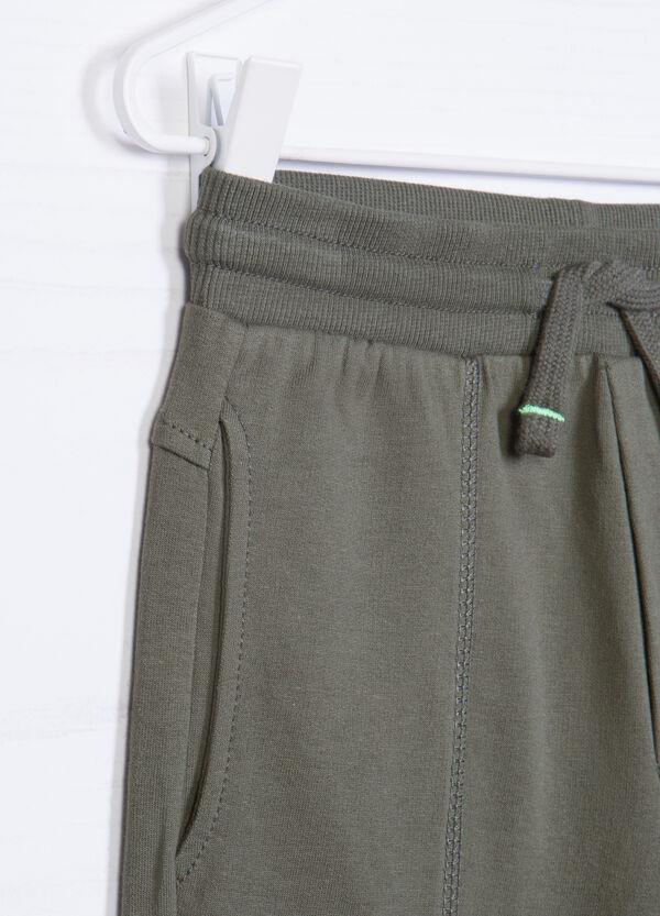Solid colour cotton shorts | OVS