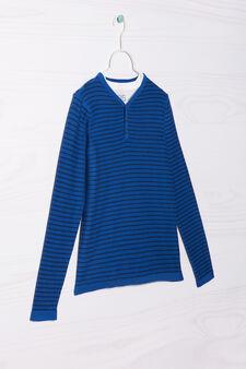 Completo due t-shirt cotone, Blu bluette, hi-res