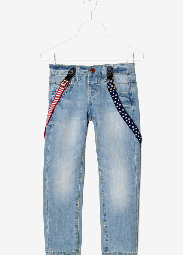 Jeans with braces | OVS