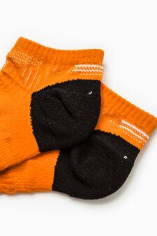 Short sports socks, Orange, hi-res