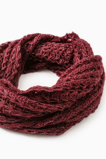 Wide knit scarf, Claret Red, hi-res