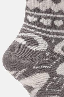 Patterned slipper socks, White/Grey, hi-res