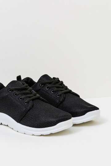 Sneakers with contrasting sole, Black, hi-res
