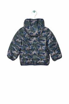 Down jacket with hood, Grey, hi-res