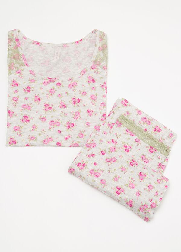 Cotton pyjamas with floral pattern | OVS