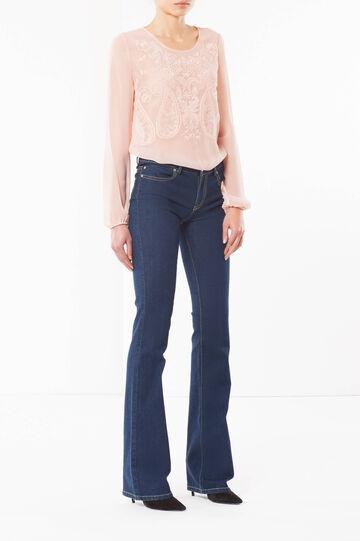 Jeans a zampa, Lavaggio scuro, hi-res