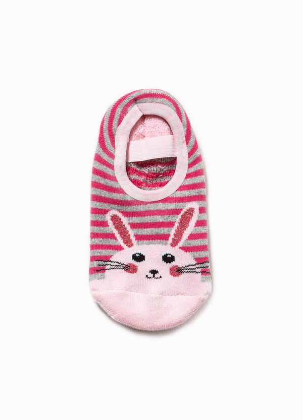 Striped slipper socks with rabbit embroidery | OVS