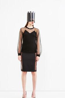 Tricotine skirt, Jean Paul Gaultier for OVS, Black, hi-res