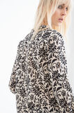 100% cotton blouse with floral print, Beige, hi-res