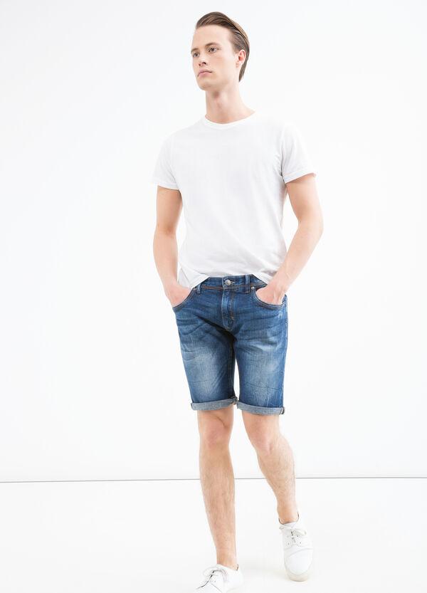 Skinny fit. worn-effect Bermuda shorts | OVS