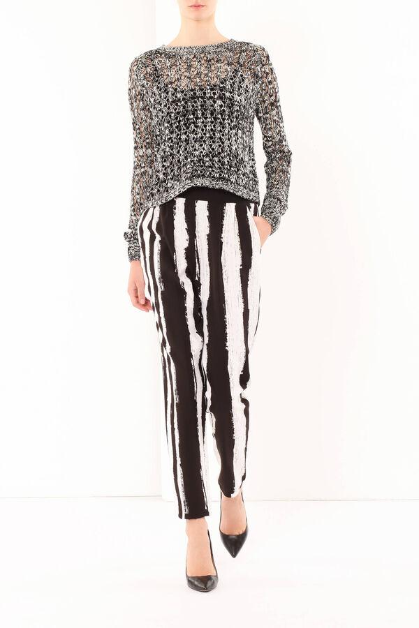 Stripe print trousers | OVS