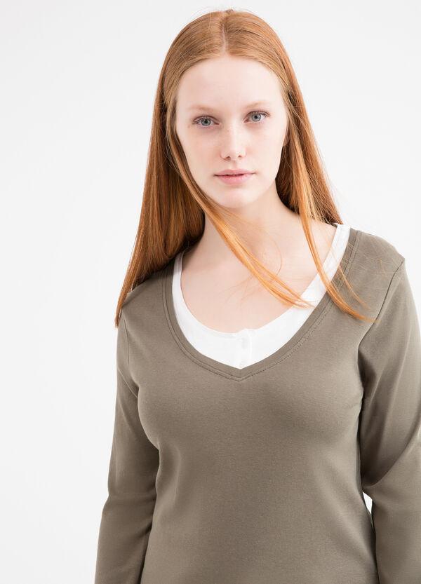 T-shirt finto doppio Curvy | OVS