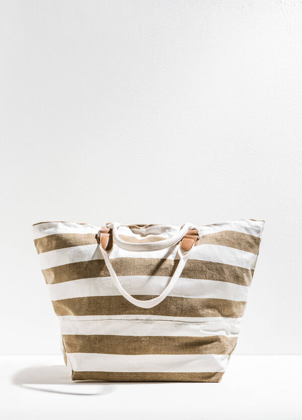Beach bag with striped pattern | OVS
