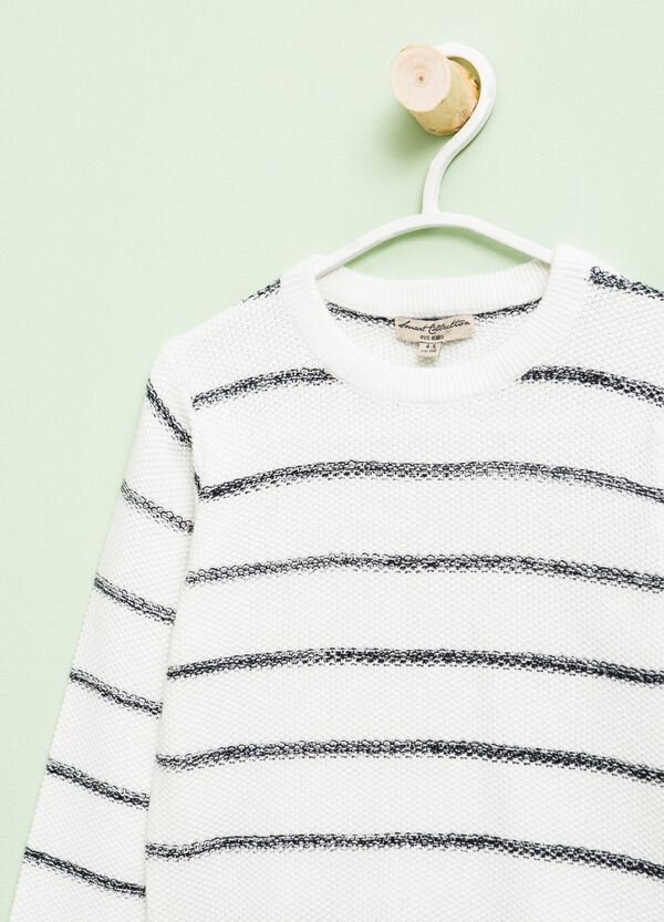 Jersey de rayas en mezcla de algodón | OVS