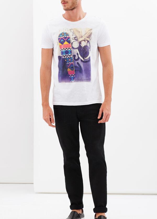 T-shirt con stampa fotografica a contrasto  | OVS