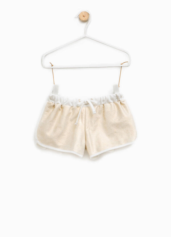 Glitter shorts in cotton blend | OVS