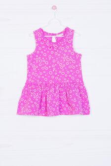 Stretch patterned dress, Lilac, hi-res