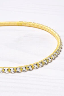 Alice band with diamanté decoration, Yellow, hi-res