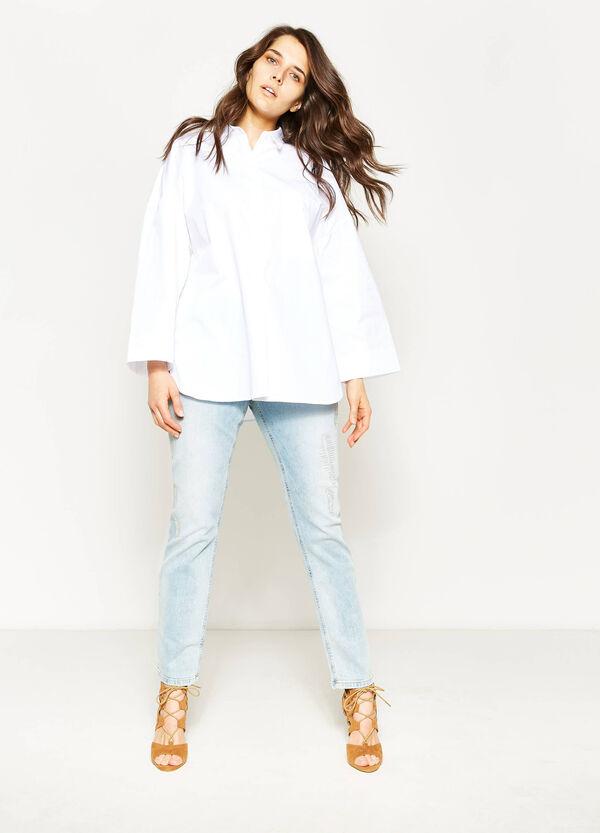 Curvy large 100% cotton shirt | OVS