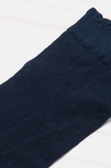Solid colour short stretch pop socks, Blue, hi-res