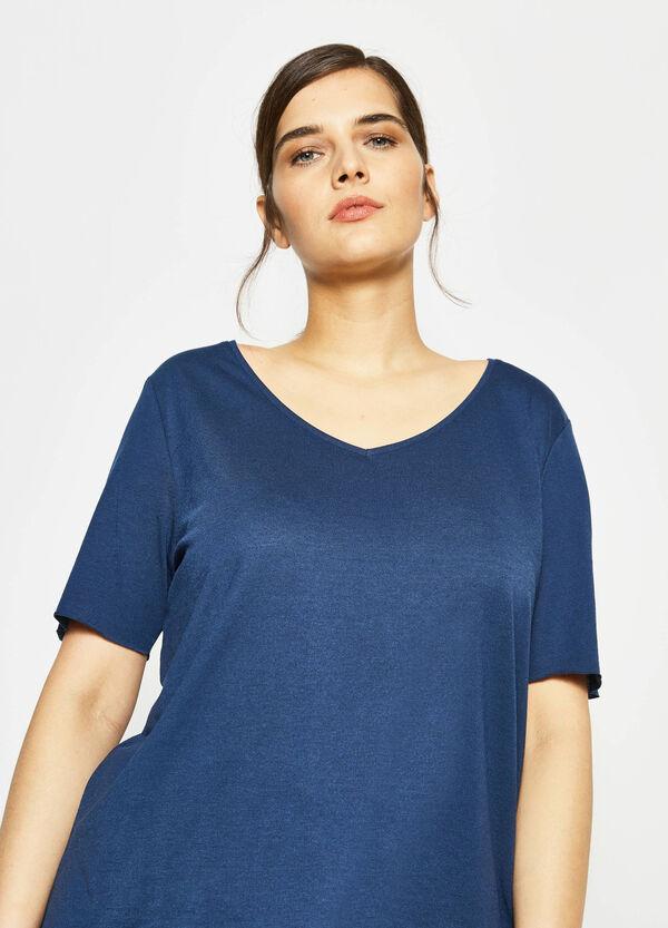 T-shirt in cotone scollo a V Curvy | OVS