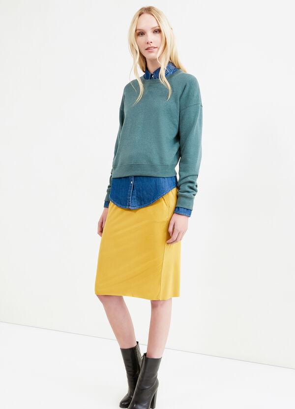 Falda midi en ante elástico | OVS